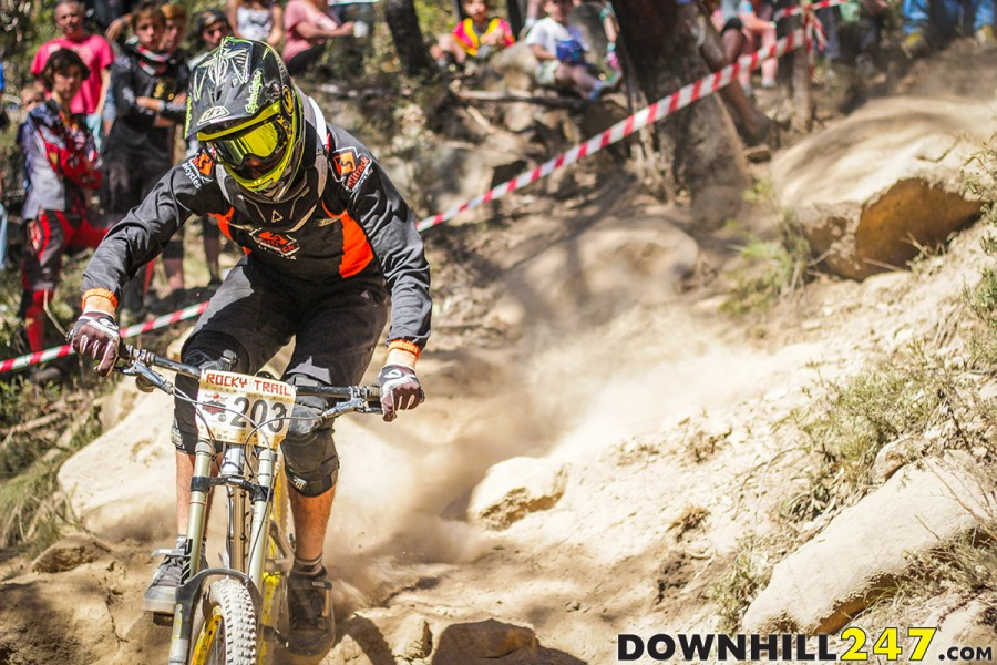 It's like a miniature world cup atmosphere. At any level, Downhill racing represents the same values and passion; from grassroots to World Cup people are united by riding their bikes, in the bush.A�JB.
