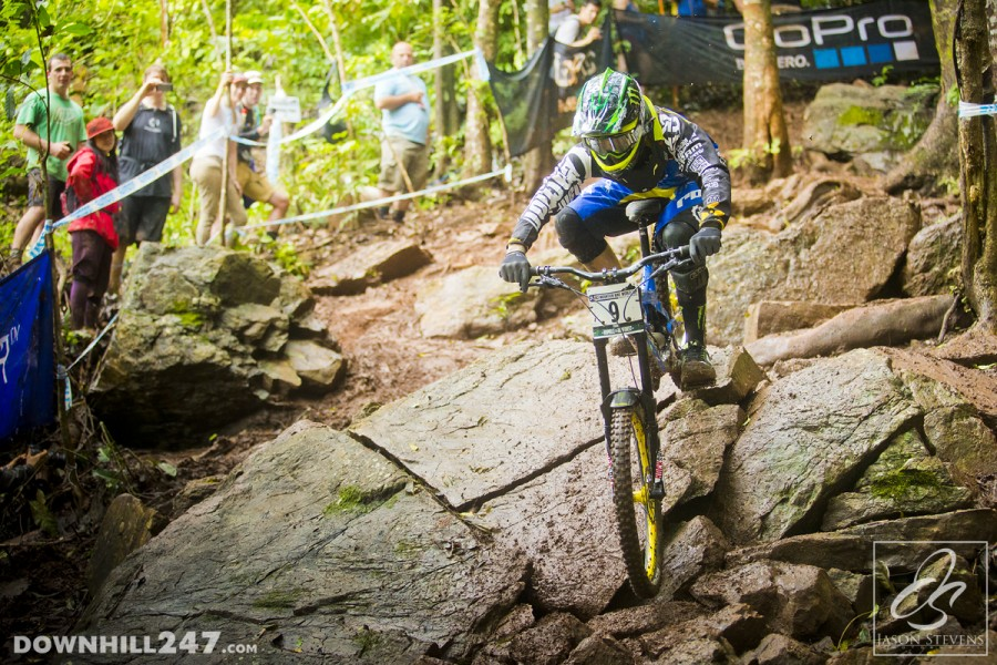 A crash for Sam Hill pushed him down into unfamiliar territory on the time sheet.