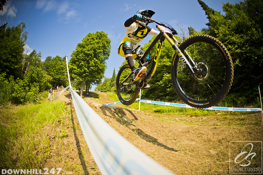 Rachel Atherton was at top speed from run no.1