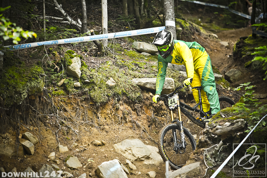 Joel Willis departs a wooded section