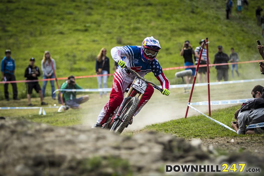 Aaron Gwin ended up taking out second overall.