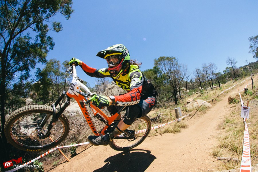 Connor Fearon rocking the enduro rig at the national round at You Yangs.