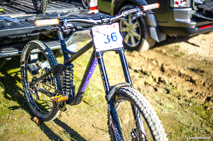 We snapped some pictures of the bike at a recent South Australian state race.