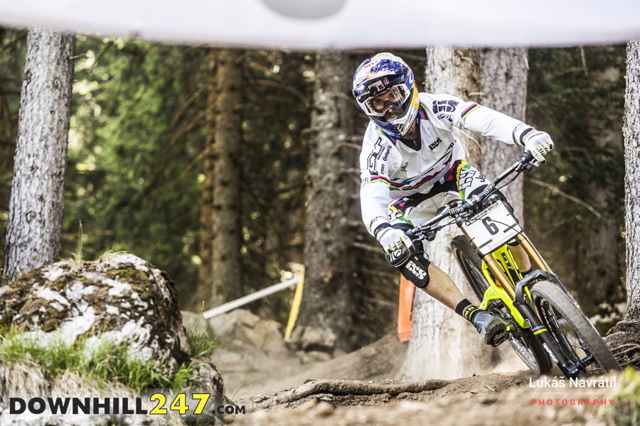 Never rule Gee Atherton out, he finished 5th in the race and is always up there.