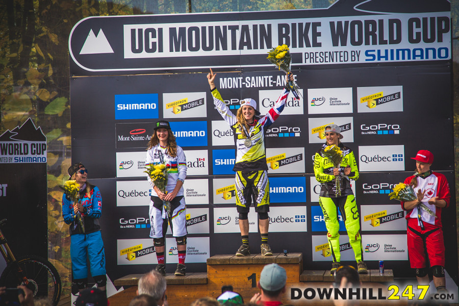 The overall is now firmly in Rachel Atherton's grasp, solid riding by all the girls though means it is anything but guaranteed.
