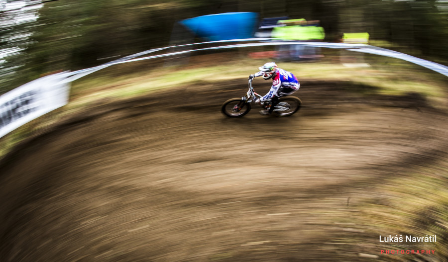 Steve Peat starting off what will be his final World Cup season...
