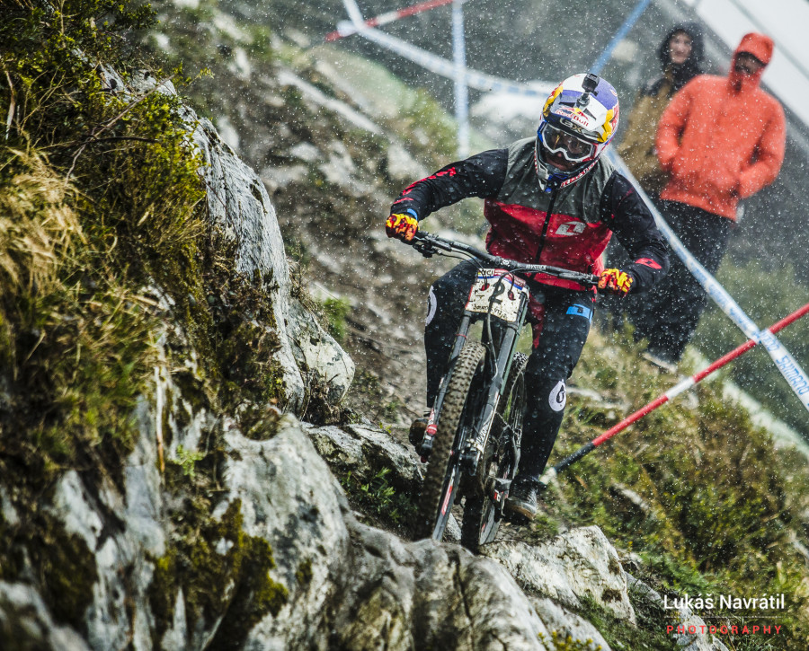 Fastest qualifier and at his home World Cup - Loic Bruni was enjoying life!