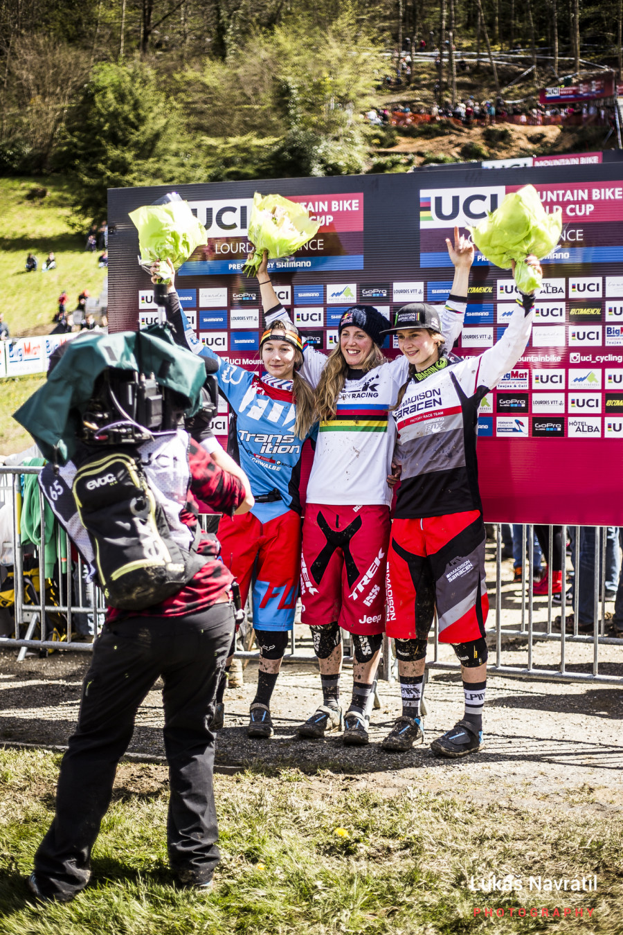 Tahnee Seagrave is looking fast this year finishing second. As has been a trend over the past few years Rachel Atherton took the win, the first on her new bike/team.