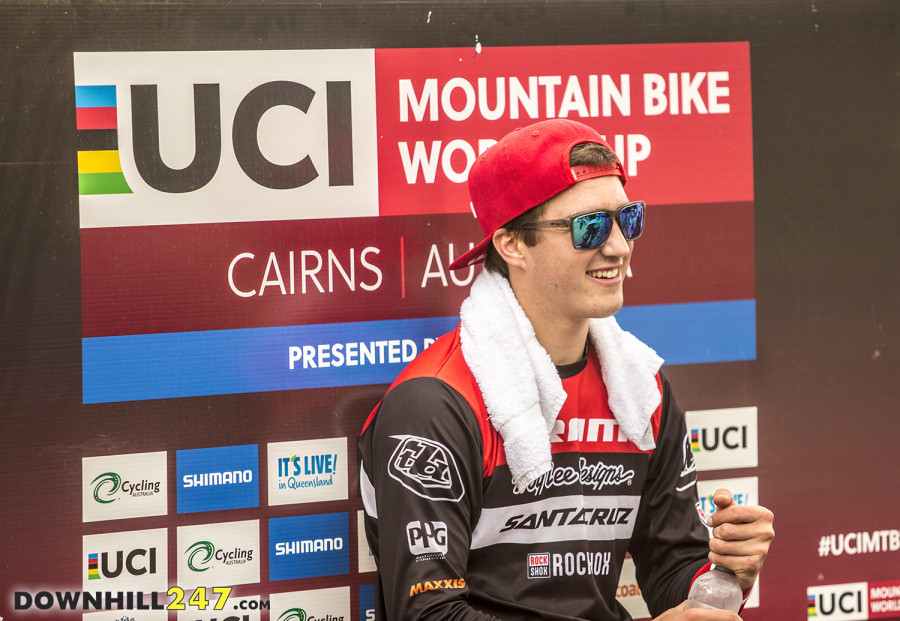 A smiling Luca Shaw ended up in 13th.