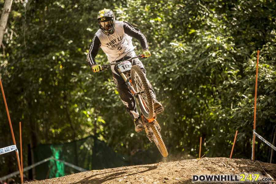 Brendan Fairclough after having a few crashes during the week.