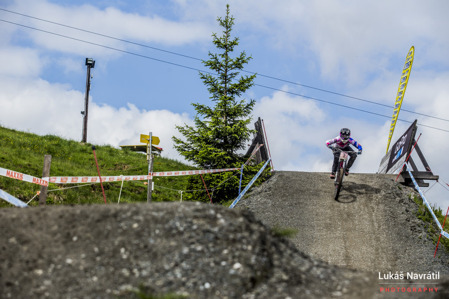 Tracey Hannah has been riding well this year and looks good here again in Leogang.