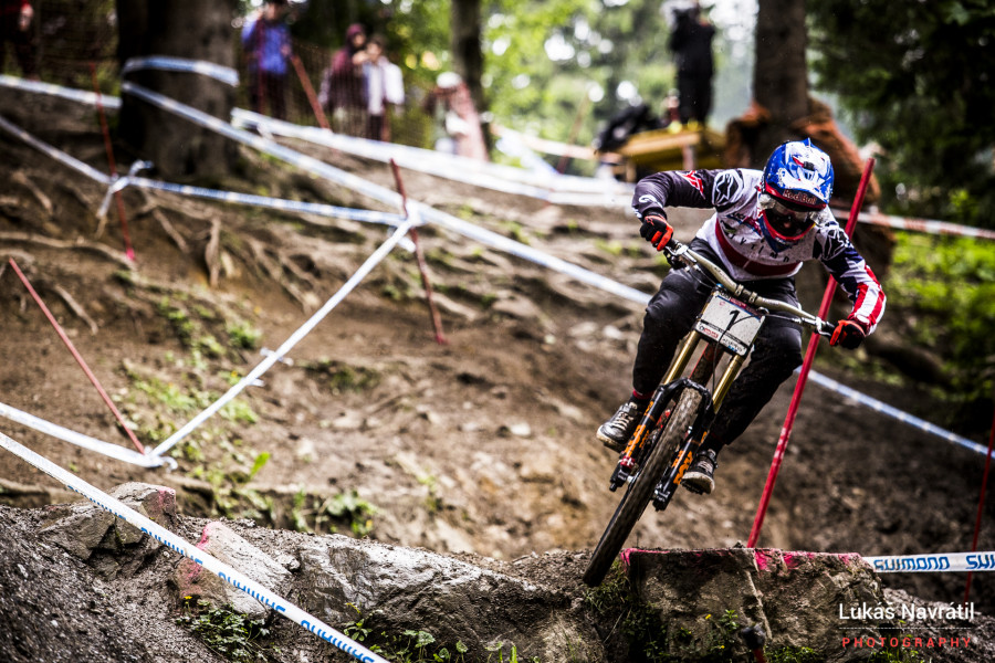 Aaron Gwin took the win by 3.1 seconds, with Loris Vergier taking second, his best result to date.
