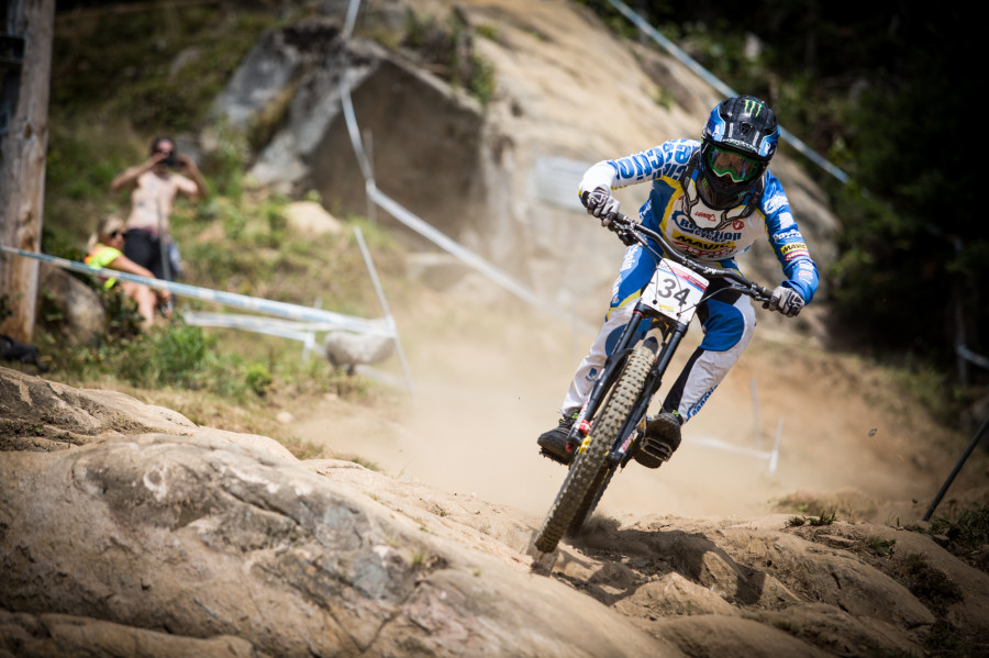 Sam Hill has won here numerous times, including the world championships here in 2010, not the same results for him this weekend though!